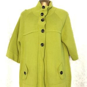 Chico's lime green button down cardigan